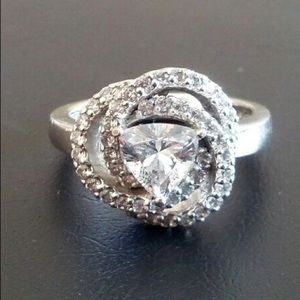 Jewelry - Vintage 925 CZ Sterling Silver Ring